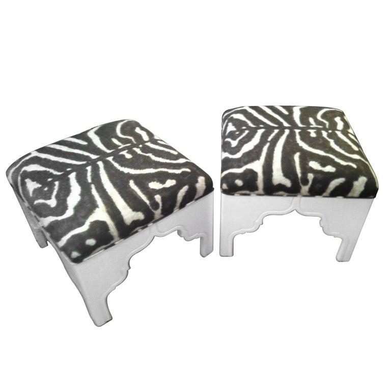 Custom Upholstered Fez Ottoman At 1stdibs