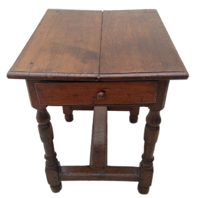 Antique wooden side table at 1stdibs for Wood side table