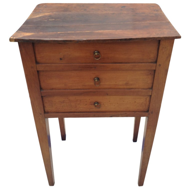 Small wood side table w faux drawers at stdibs