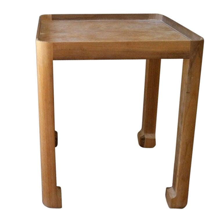 Vintage Wood Side Table 1