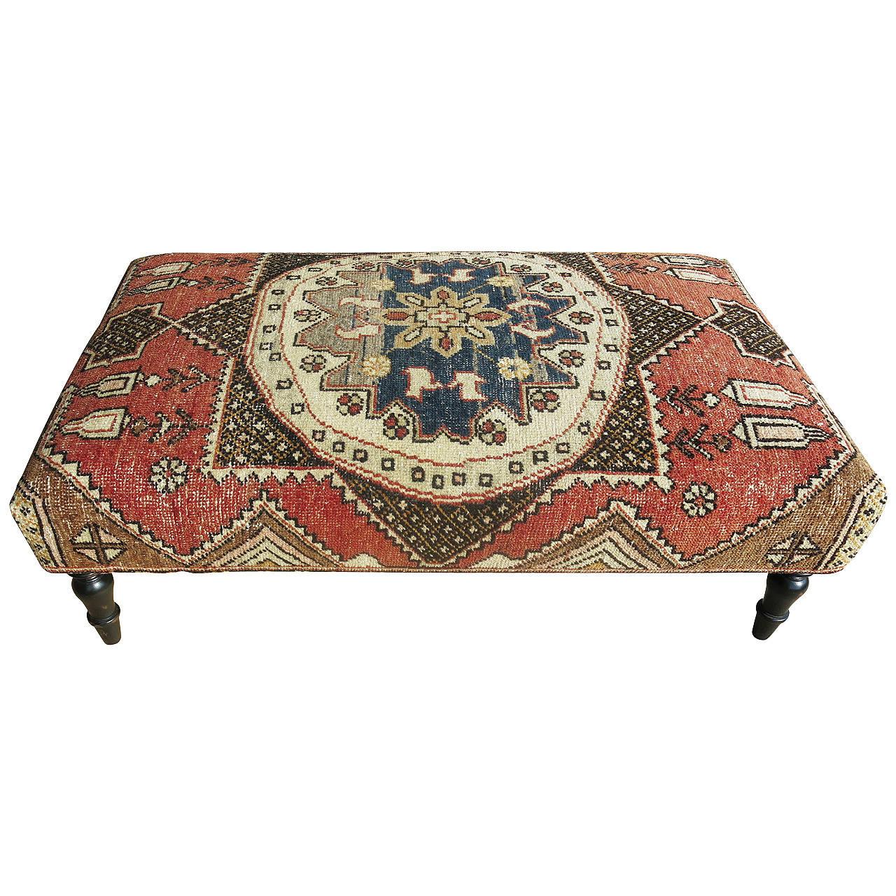 Genial Turkish Rug Ottoman For Sale