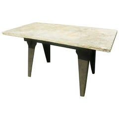 Industrial Marble Top Table