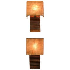 Pair of Cigar Mold Sconces