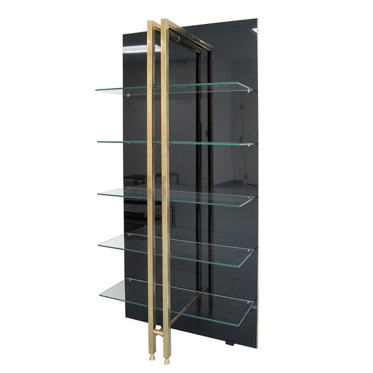 brass and black plexi tag re with floating clear glass. Black Bedroom Furniture Sets. Home Design Ideas