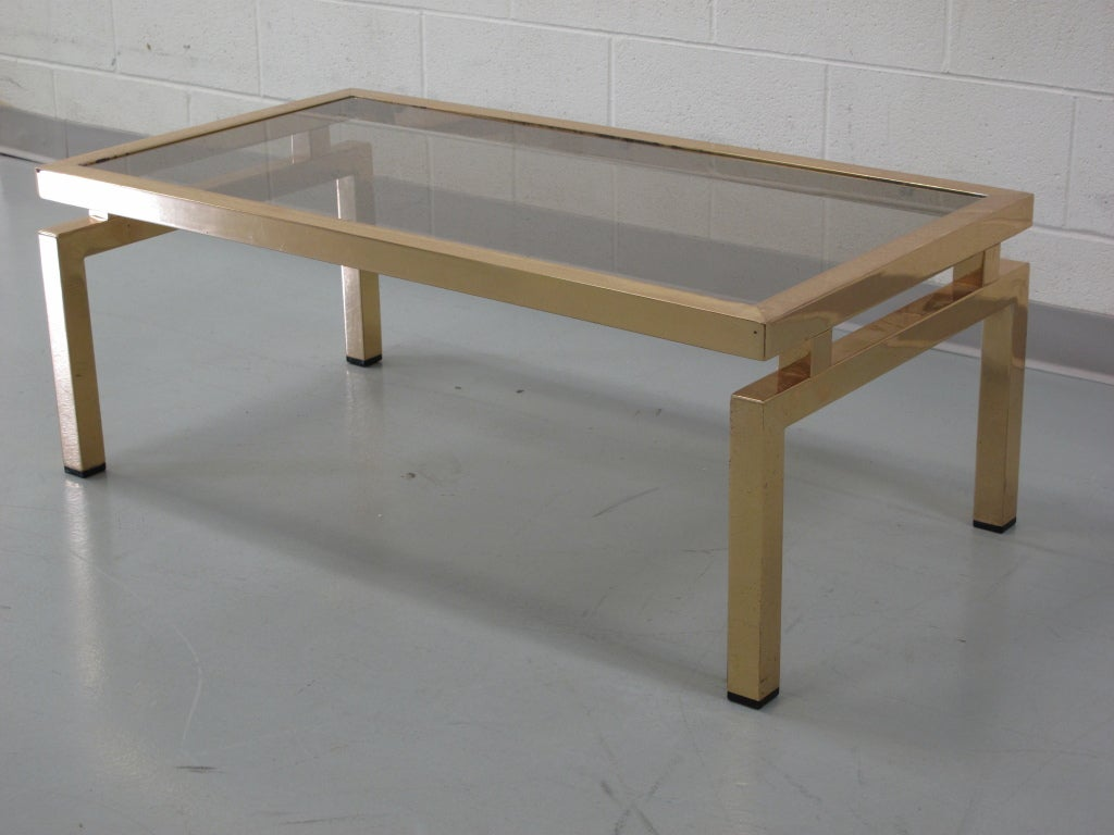 Antique coffee tables and cocktail tables at 1stdibs for Rectangular coffee table with glass top