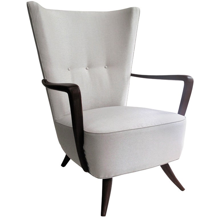 Highback Armchair in the Style of Ulrich