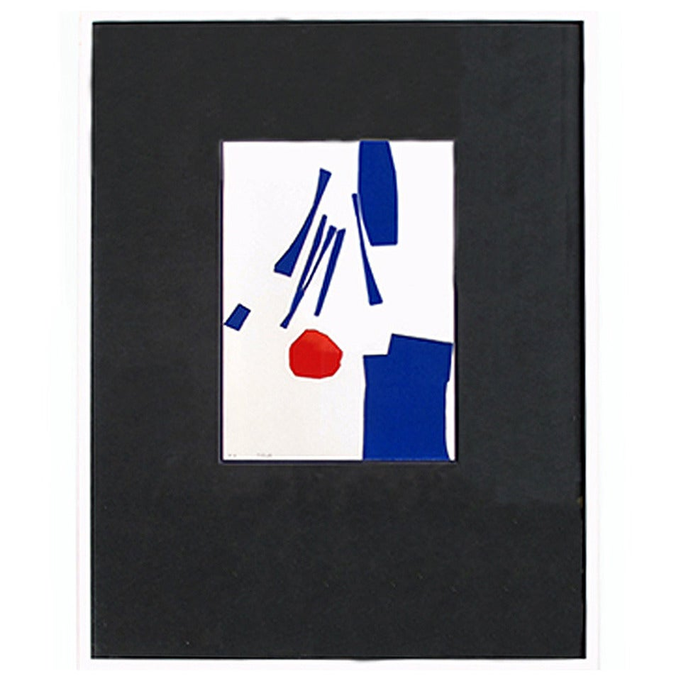 """""""Untitled"""" 1960s Abstract Lithograph by Gerardo Rueda For Sale"""