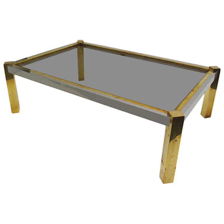 Coffee Table Angled Legs: 1970's French Angled Leg Coffee Table For Sale At 1stdibs