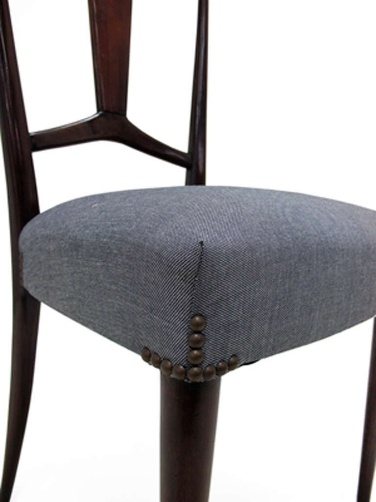 Set of Four Dining Chairs with Nailhead Detailing at 1stdibs