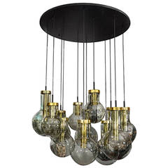 1970s RAAK Ten-Globe Chandelier