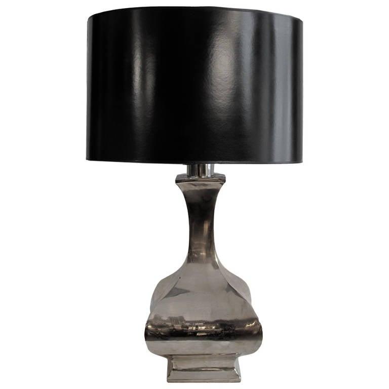 Nickel Baluster Table Lamp