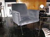 Italian 1960's Armchair with Square Cut-out Arm image 5