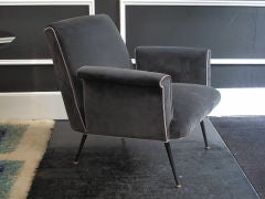 Italian 1960's Armchair with Square Cut-out Arm image 2