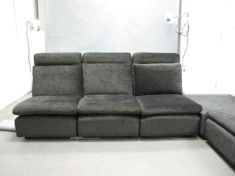 vintage ligne roset sectional sofa at 1stdibs. Black Bedroom Furniture Sets. Home Design Ideas