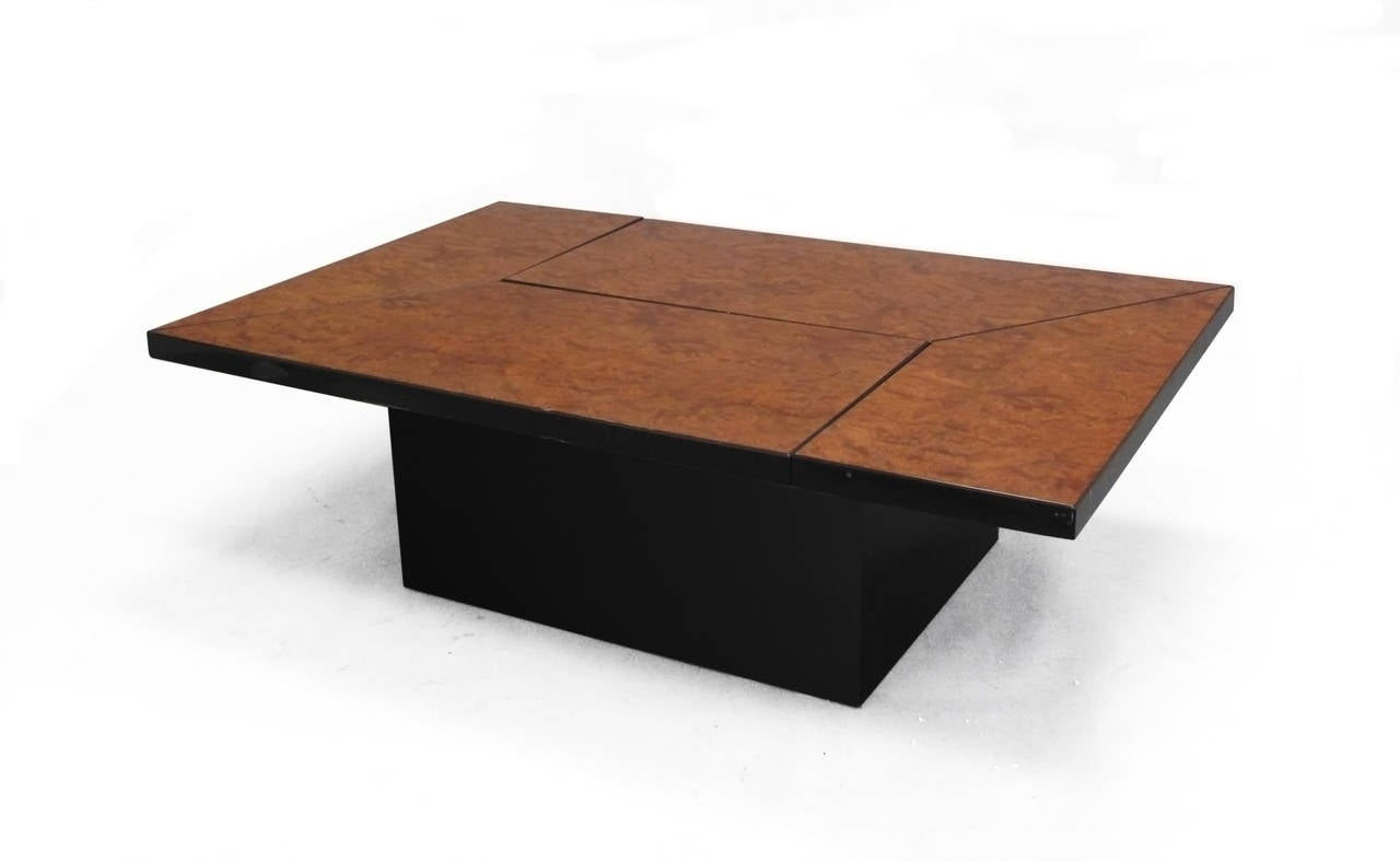 burl wood expandable system coffee table for sale at 1stdibs