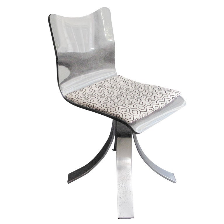 1960 s French Lucite Desk Chair at 1stdibs