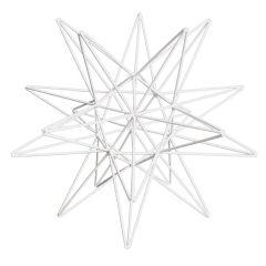 1960's American White Metal Star Sculpture