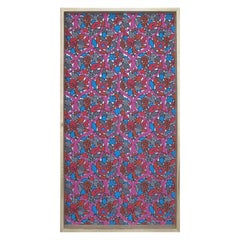 Framed 19th Century Floral Wallpaper Panel - Grapes