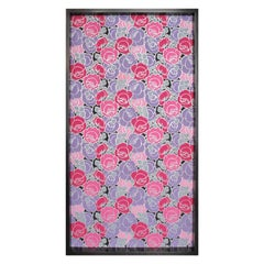 Framed 19th Century Floral Wallpaper Panel - Roses