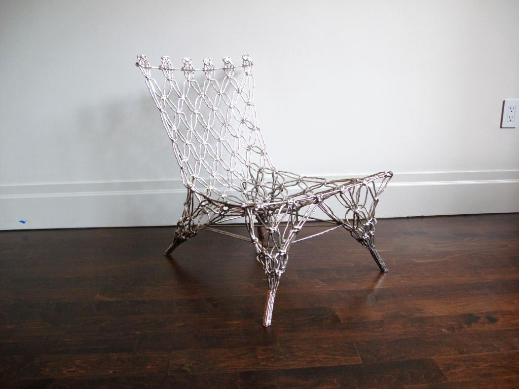 """Chrome""""Knotted Chair"""" by Marcel Wanders 2"""