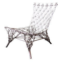 """Chrome""""Knotted Chair"""" by Marcel Wanders"""