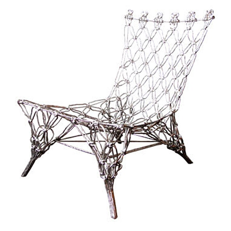 """Chrome""""Knotted Chair"""" by Marcel Wanders For Sale"""