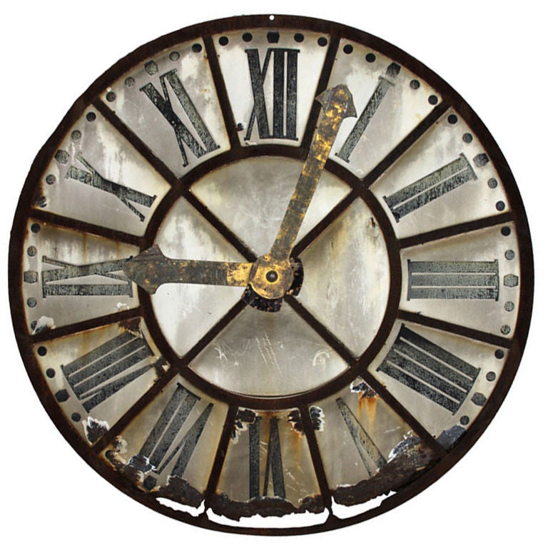 French Tower Clock Face At 1stdibs