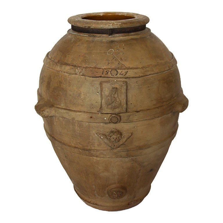 Large Italian Terracotta Olive Pot At 1stdibs