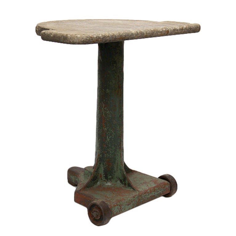 Antique Metal And Marble Table At 1stdibs