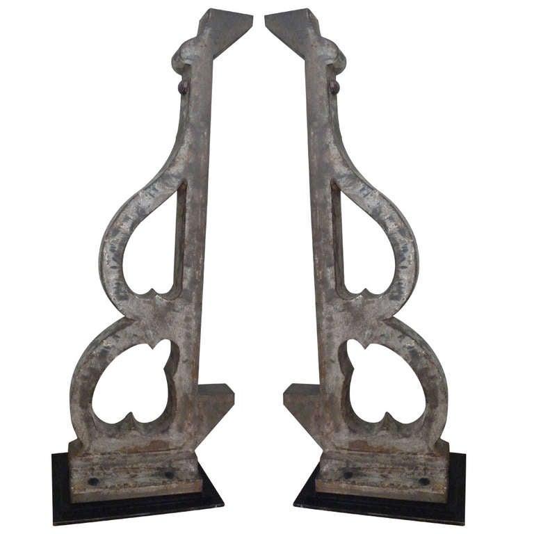 metal architectural brackets at 1stdibs