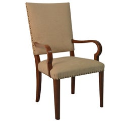 Swedish Art Moderne Open Armchair in Mahogany