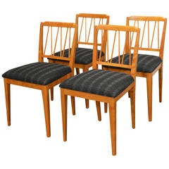 Set of Four Swedish Art Moderne Dining Chairs