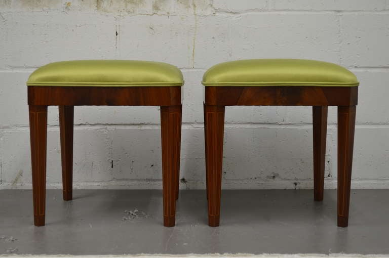 Exceptional Pair of Neoclassical Revival Stools or Benches 2