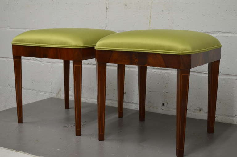 Exceptional Pair of Neoclassical Revival Stools or Benches 3