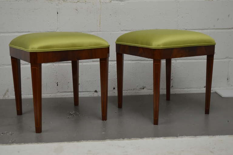 Exceptional Pair of Neoclassical Revival Stools or Benches 4