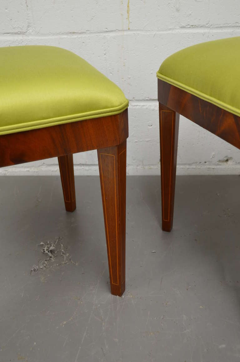 Exceptional Pair of Neoclassical Revival Stools or Benches 5