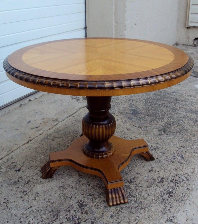 swedish art deco round pedestal end table for sale at 1stdibs. Black Bedroom Furniture Sets. Home Design Ideas