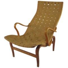 """Vintage Swedish """"Pernilla 1"""" Chair by Bruno Mathsson"""