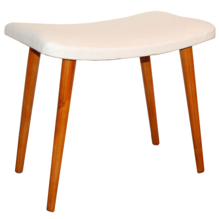 Swedish Art Moderne Vanity Bench Stool At 1stdibs