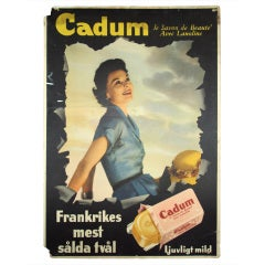 Unique Vintage Swedish Advertisement Poster Sign
