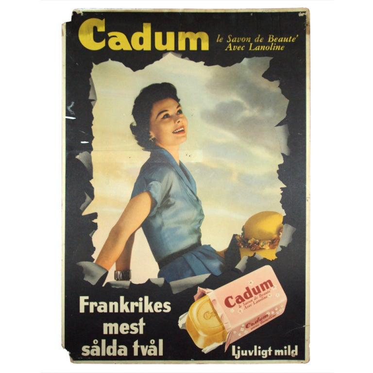 Unique Vintage Swedish Advertisement Poster Sign At 1stdibs