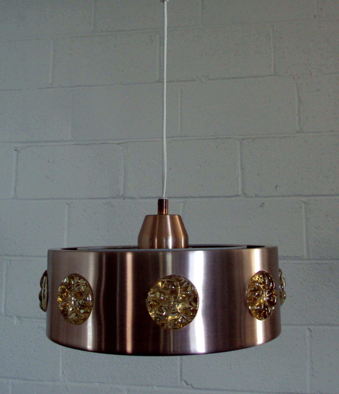Vintage Mid-Century Swedish Modern Spun Aluminum Pendant