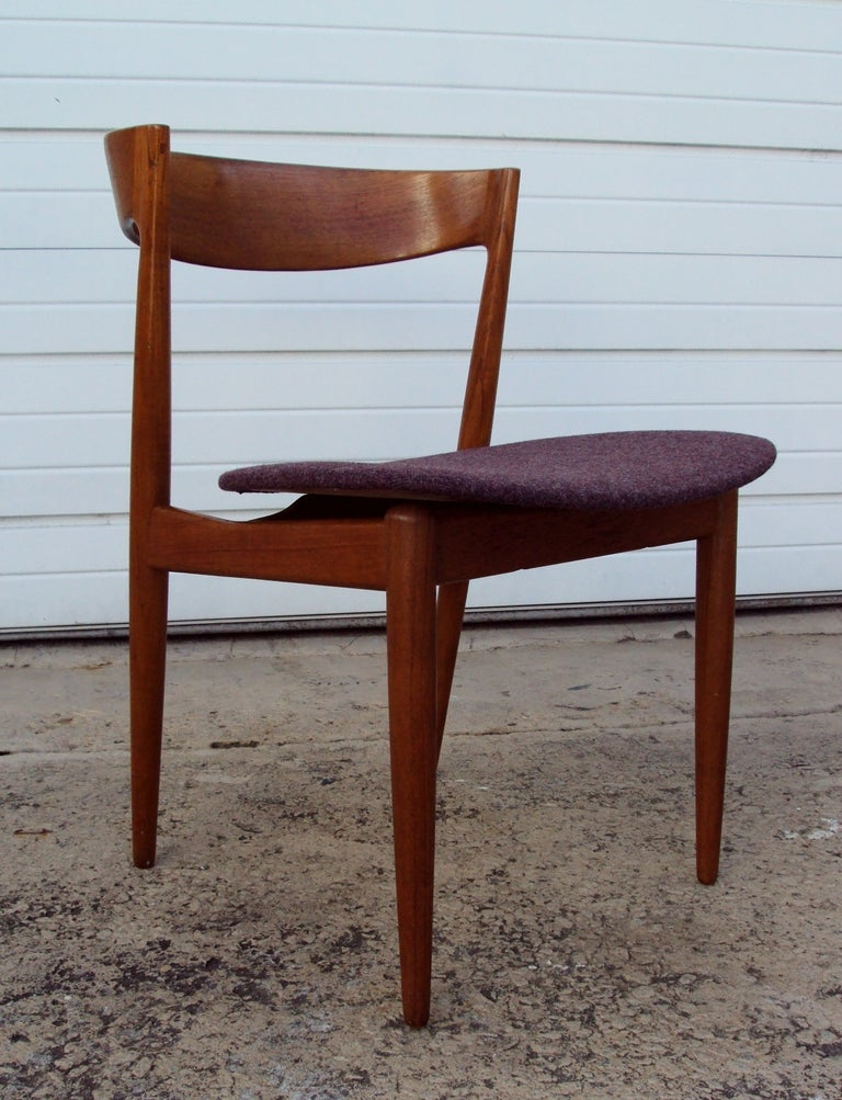 danish mid century modern aerodynamic teak side chair at 1stdibs
