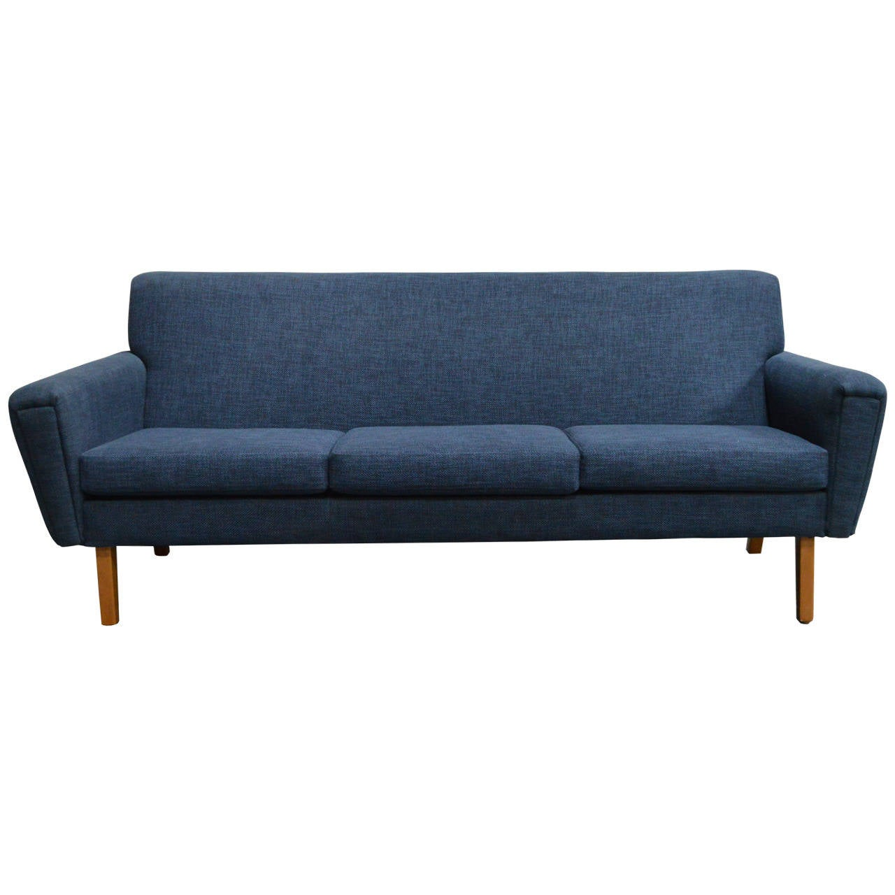 Swedish mid century modern blue sofa at 1stdibs for Mid century modern sofas