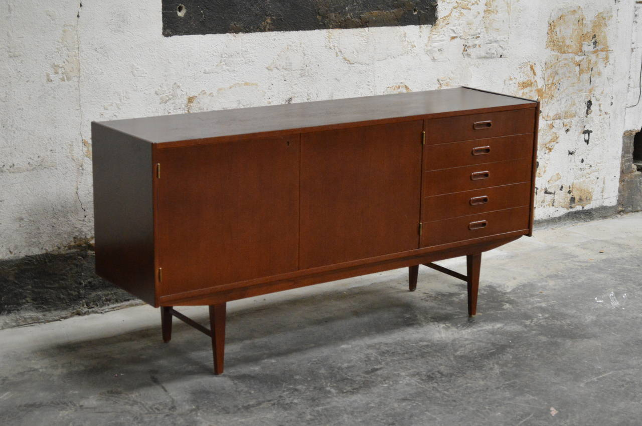 Credenza Danish Modern : Swedish mid century modern teak credenza for sale at stdibs