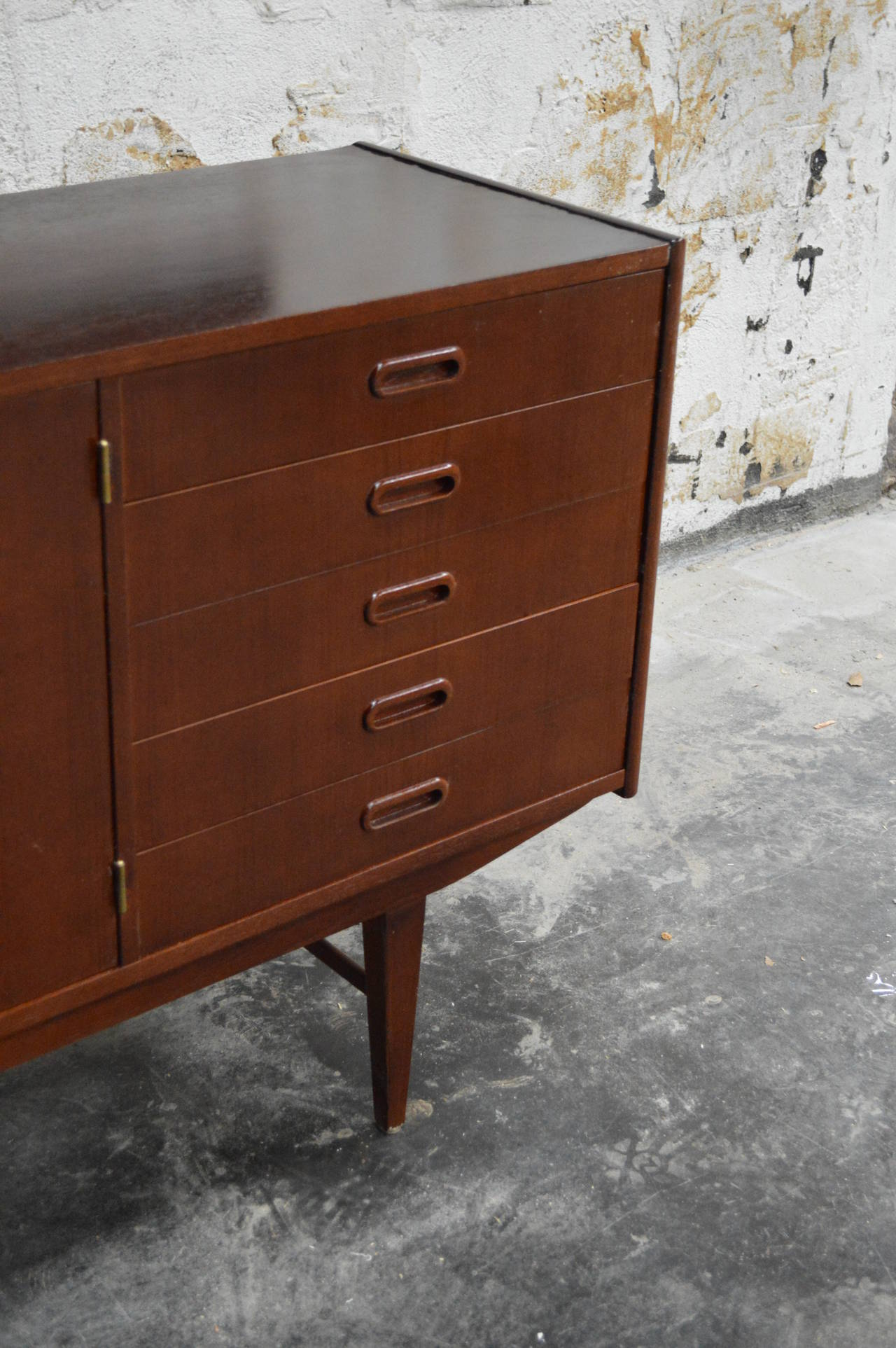 Swedish Mid-Century Modern Teak Credenza For Sale 1