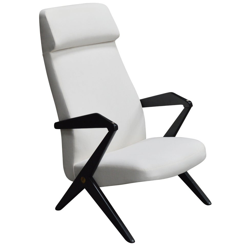 Swedish Mid-Century High Back Lounge Chair by Bengt Ruda - COM Ready