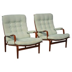 Pair of Bruno Mathsson for DUX Ingrid Arm or Lounge Chairs