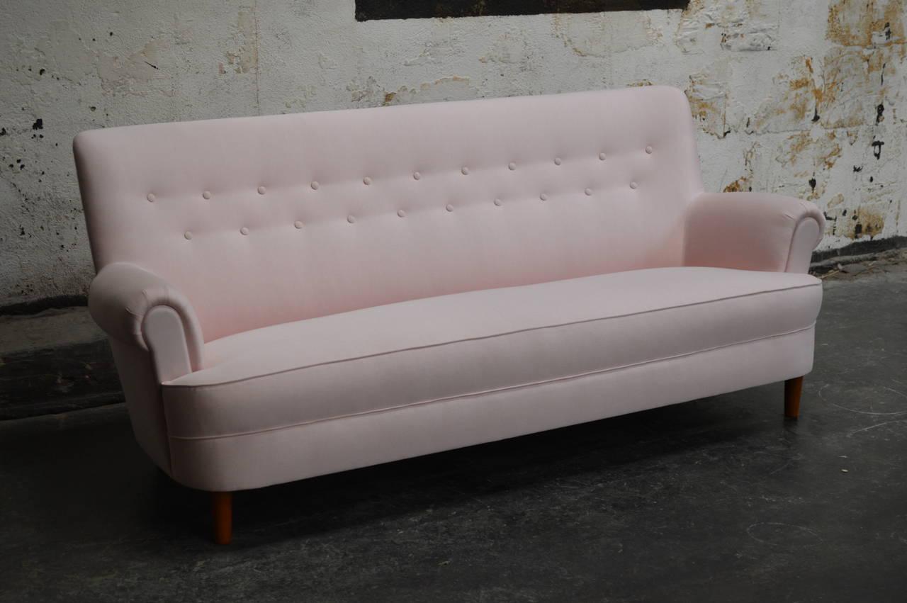 Mid century swedish carl malmsten hemmakvall sofa at 1stdibs Carl malmsten sofa