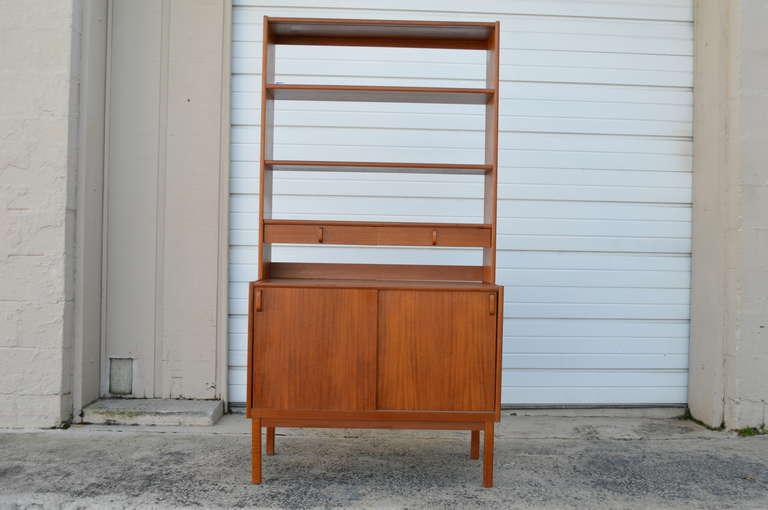 swedish midcentury modern teak storage bookcase by bodafors 2